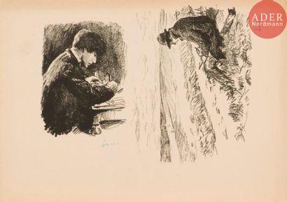 Maximilien Luce (1858-1941) Artiste dessinant...
