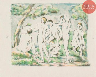 Paul Cézanne (1839-1906) Les Baigneurs (petite...