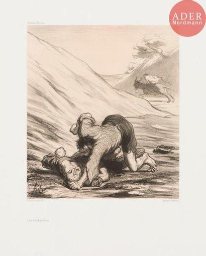 Honoré Daumier (1808-1879) L'Âne et les deux...