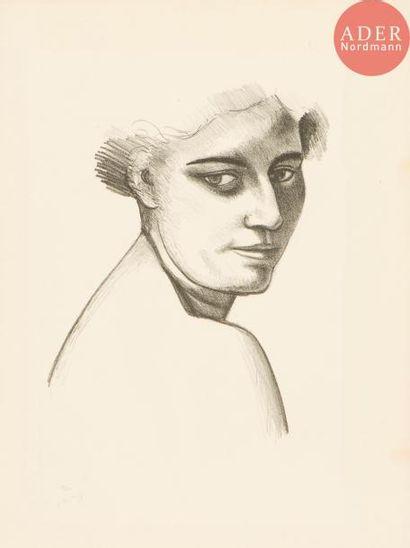 André Derain (1880-1954) Femme de trois-quarts...
