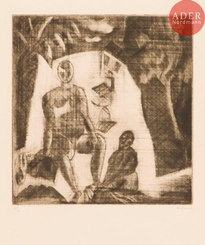 Charles Dufresne (1876-1938) Sortie de bain....