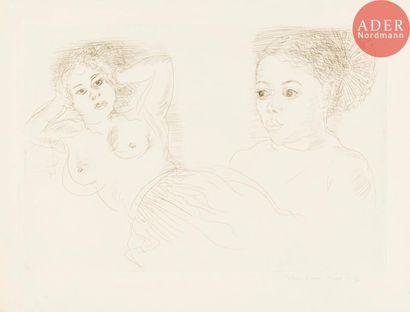 Raoul Dufy (1877-1953) Deux Antillaises....