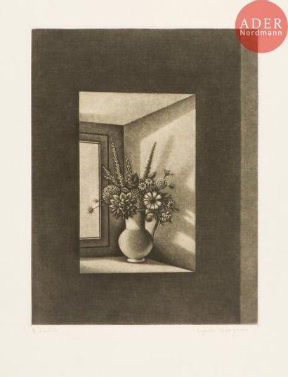 Kiyoshi Hasegawa (1891-1980) Bouquet sur...