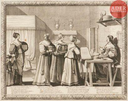 Abraham Bosse (c. 1602-1676) Le Mariage à la campagne: Les Présents à la mariée....