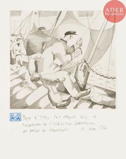 Jean-Émile Laboureur (1877-1943) Pêcheurs...