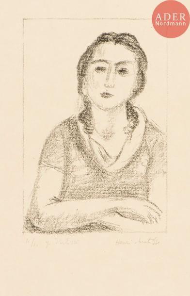 Henri Matisse (1869-1954) Buste de jeune...