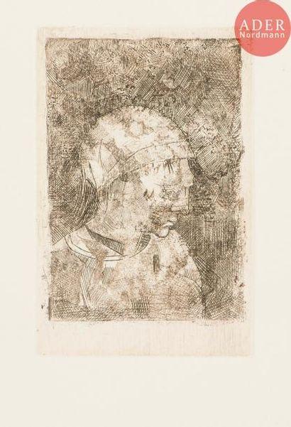 Odilon Redon (1840-1916) Tête de jeune fille....