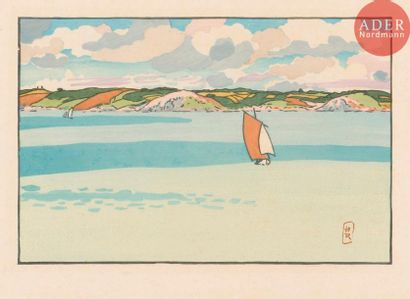 Henri Rivière (1864-1951) Baie de La Fresnaye...