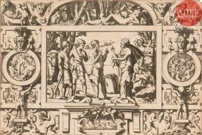 René Boyvin (1525-c. 1598 ou 1625) La Reine Ino fait gâter la semence qu'elle confie...