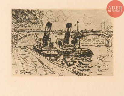 Paul Signac (1863-1935) Le Pont des arts...