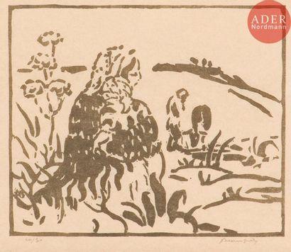 Adolphe Beaufrère (1876-1960) Mère et enfant....