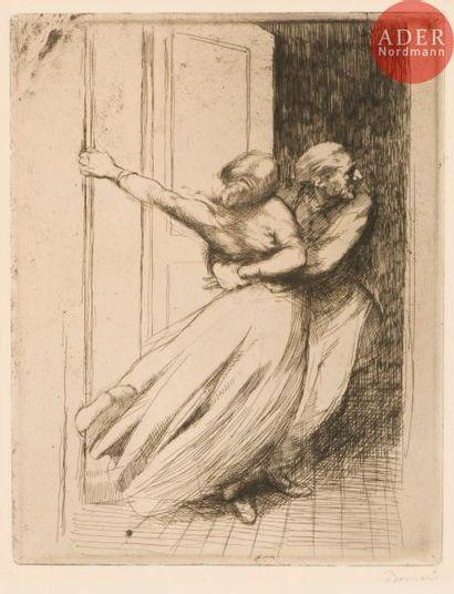 Albert Besnard (1849-1934) Le Viol. (La Femme,...
