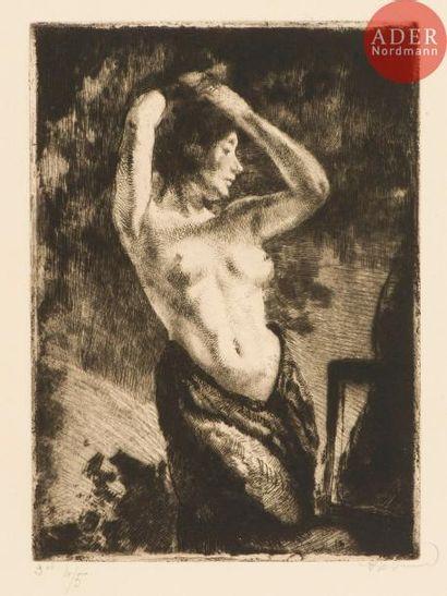 Albert Besnard (1849-1934) Le Modèle aux...