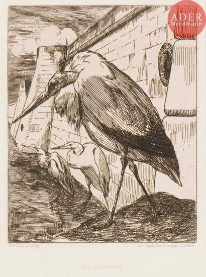 Félix Bracquemond (1833-1914) Les Cigognes....
