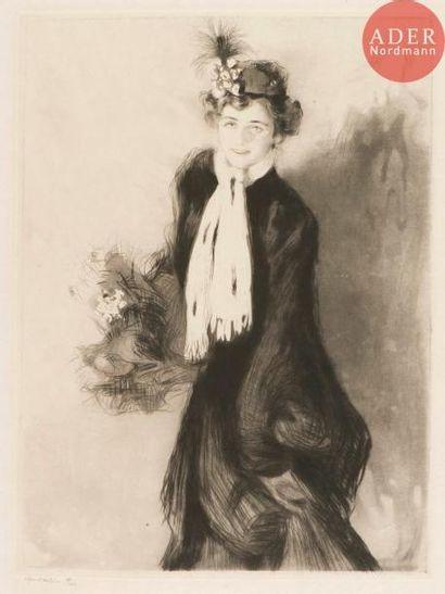 Edgar Chahine (1874-1947) Portrait de Mademoiselle...