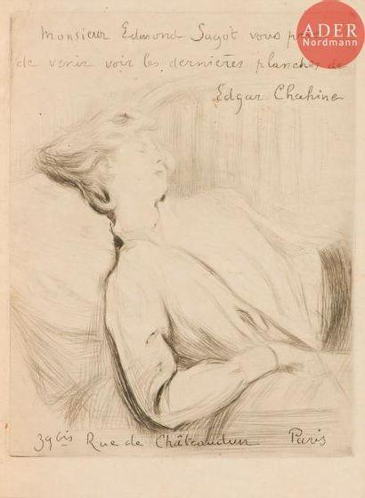 Edgar Chahine (1874-1947) Invitation (Galerie...