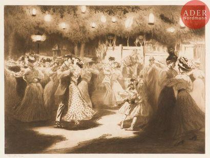 Edgar Chahine (1874-1947) Bal du carrefour...