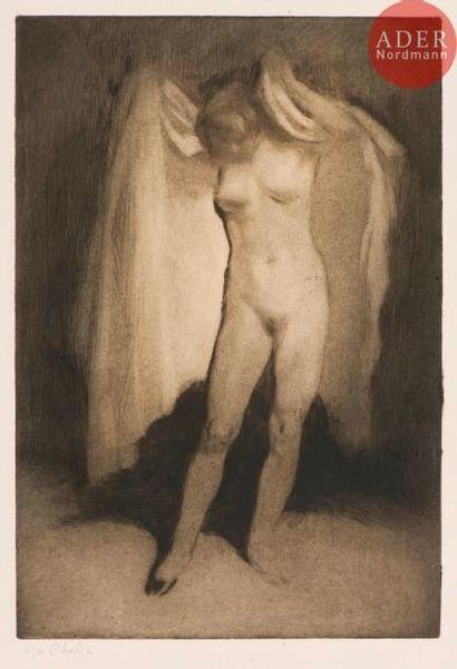 Edgar Chahine (1874-1947) Après le bain....
