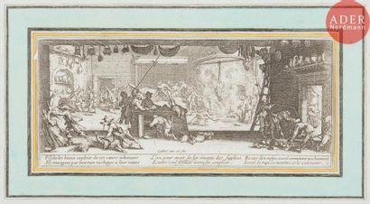 Jacques Callot (1592-1635) Les Misères et malheurs de la Guerre. 1633. Eau-forte....