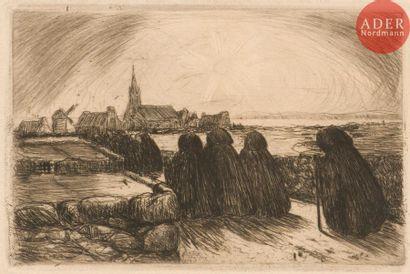 Charles Cottet (1863-1925) Office du soir...