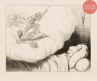 Honoré Daumier (1808-1879) [Rêve – imagination]....