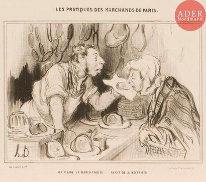 Honoré Daumier (1808-1879) Les Pratiques...