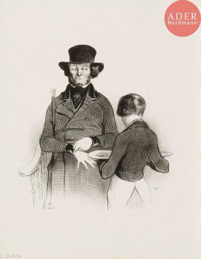 Honoré Daumier (1808-1879) Un dîner chez...