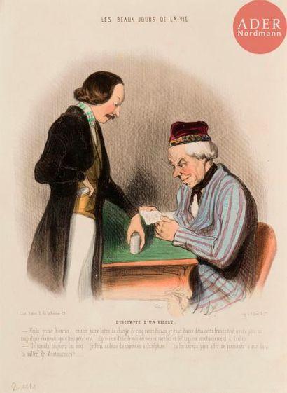 Honoré Daumier (1808-1879) Les Beaux jours...