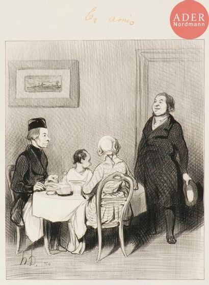 Honoré Daumier (1808-1879) Les Amis (pl....