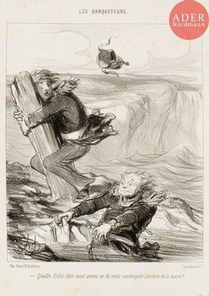 Honoré Daumier (1808-1879) Les Banqueteurs...