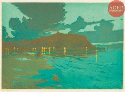 Nelson Dawson (1859-1941) Scarborough Harbour...