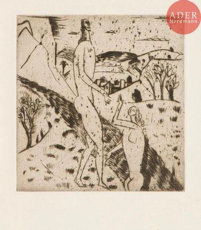 André Derain (1880-1954) Couple au bord du...
