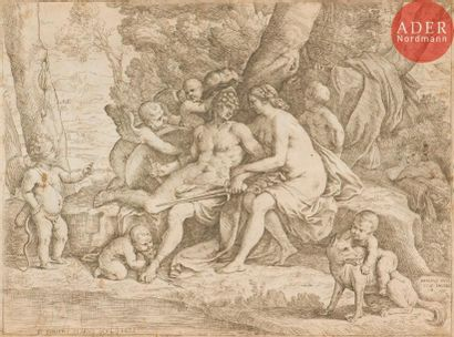 Frabrizio Chiari (1621-1695) Vénus et Adonis....