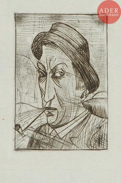 André Derain (1880-1954) Autoportrait à la...