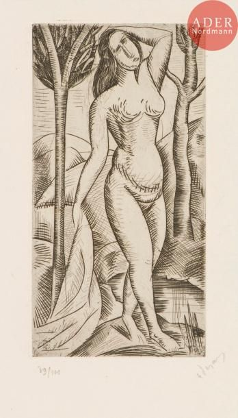 André Derain (1880-1954) Baigneuse nue aux...