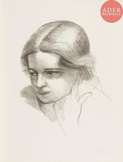 André Derain (1880-1954) Visage de femme...