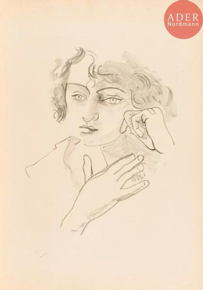 André Derain (1880-1954) Tête de femme aux...