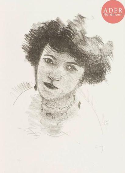 André Derain (1880-1954) Tête de femme très...