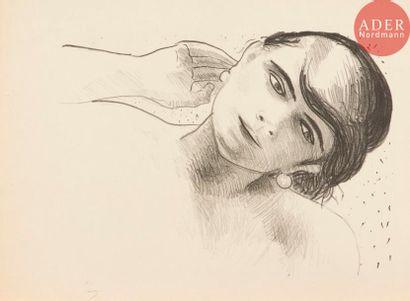 André Derain (1880-1954) Tête de femme de...