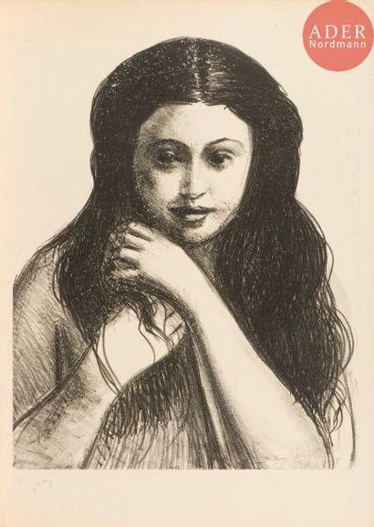 André Derain (1880-1954) Femme de face, raie...