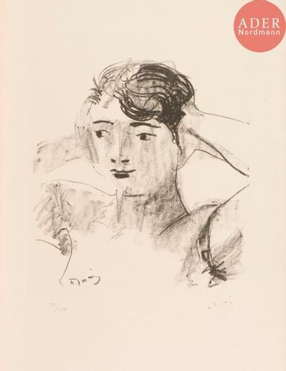 André Derain (1880-1954) Tête de femme, les...