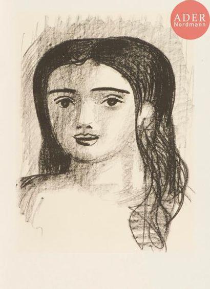 André Derain (1880-1954) Tête de jeune fille...
