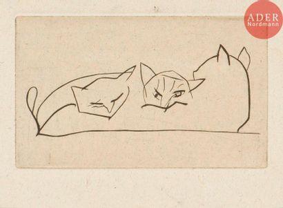 André Derain (1880-1954) Vers 1920 (?). Burin....