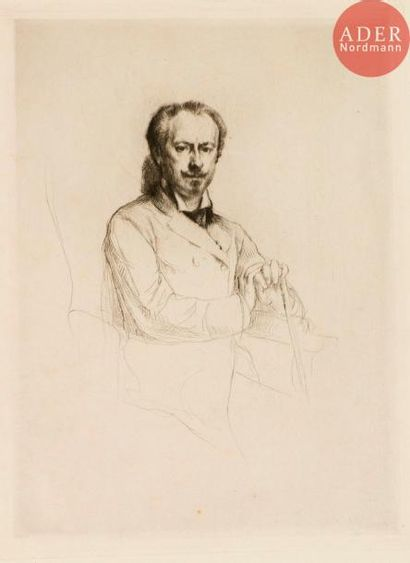Marcellin Desboutin (1823-1902) Charles Haas,...