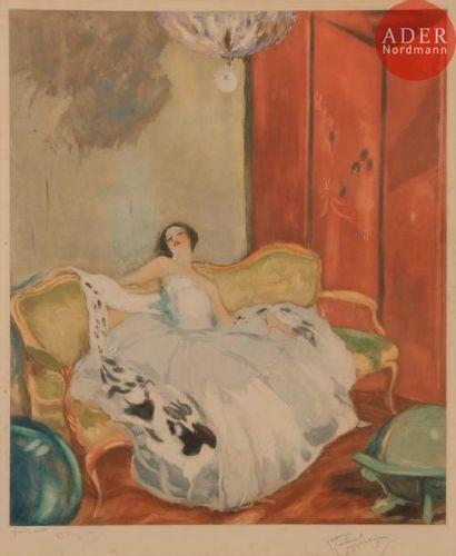 Jean-Gabriel Domergue (1889-1962) Femme au...
