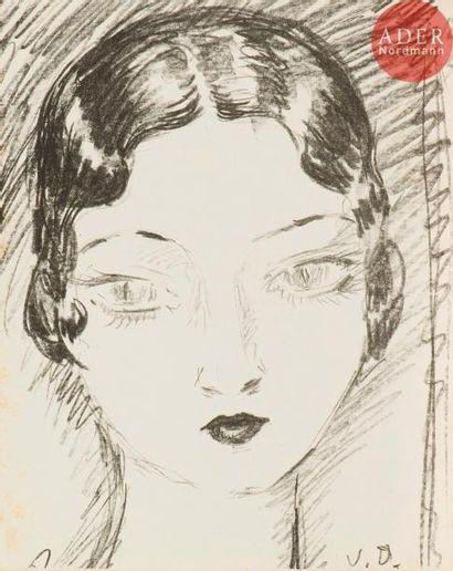 Kees van Dongen (1877-1968) Tête de femme...