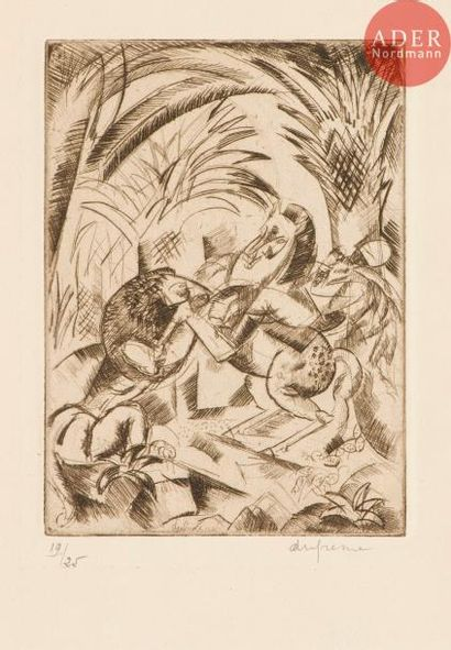 Charles Dufresne (1876-1938) Cavalier attaqué...