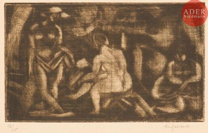 Charles Dufresne (1876-1938) Baigneuses,...