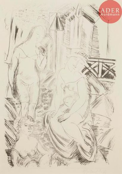 Raoul Dufy (1877-1953) Baigneuses devant...