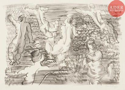 Raoul Dufy (1877-1953) Les Ondines, ou Six...